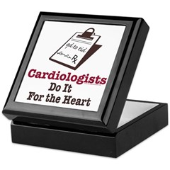 Funny Doctor Cardiologist Cardiology Keepsake Box