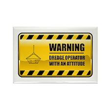 Warning Dredge Operator Rectangle Magnet