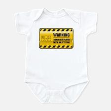 Warning Dominoes Player Infant Bodysuit