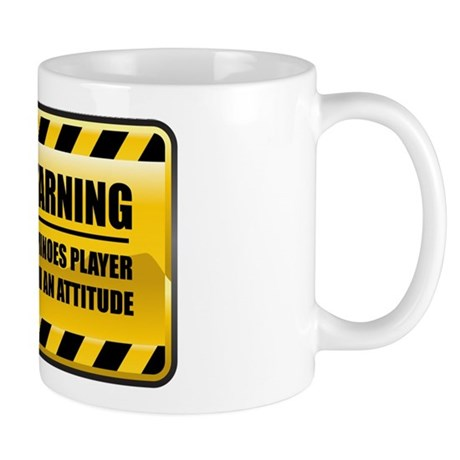 Warning Dominoes Player Mug