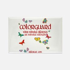 Colorguard Differences Rectangle Magnet
