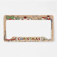primitive Christmas cross sti License Plate Holder