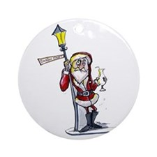 Funny Bourbon street Ornament (Round)