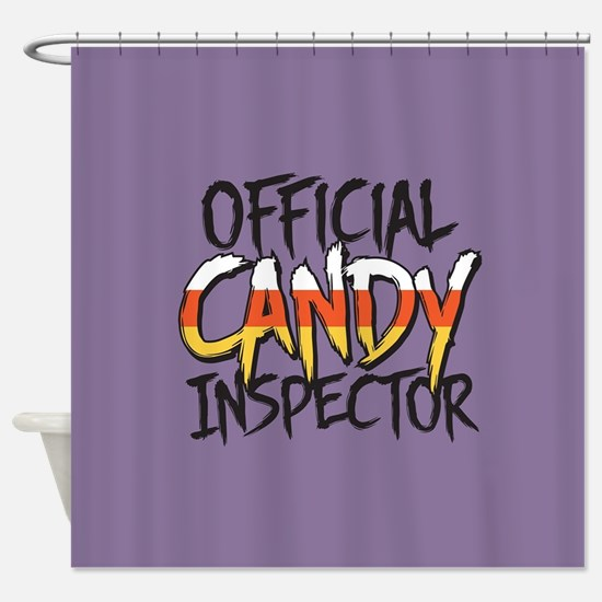 Official Candy Inspector Shower Curtain