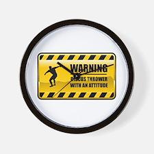 Warning Discus Thrower Wall Clock