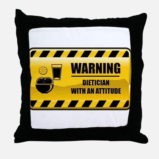 Warning Dietician Throw Pillow