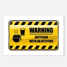 Warning Dietician Postcards (Package of 8)