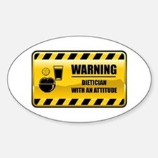 Warning Dietician Oval Decal
