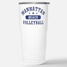 Manhattan Beach Volleyb Stainless Steel Travel Mug