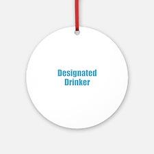 Designated Drinker Round Ornament