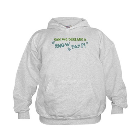Can We Declare A Snow Day Kids Hoodie