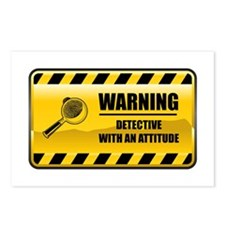 Warning Detective Postcards (Package of 8)