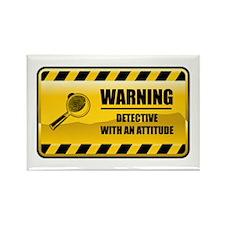Warning Detective Rectangle Magnet