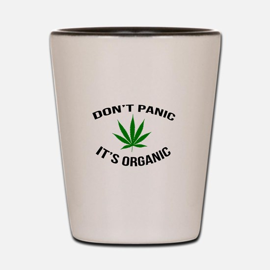 Don't Panic It's Organic Shot Glass