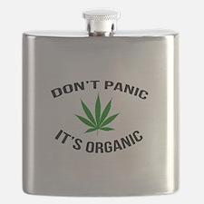 Don't Panic It's Organic Flask