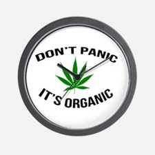 Don't Panic It's Organic Wall Clock