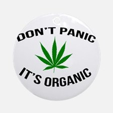 Don't Panic It's Organic Round Ornament