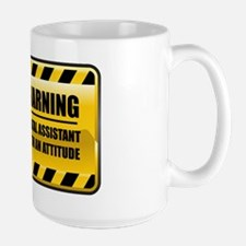 Warning Dental Assistant Large Mug