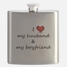 I Love my husband and my Boyfriend Flask