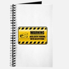 Warning Data Entry Person Journal