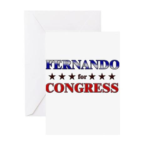 FERNANDO for congress Greeting Card
