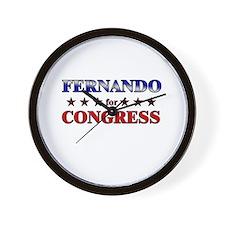 FERNANDO for congress Wall Clock