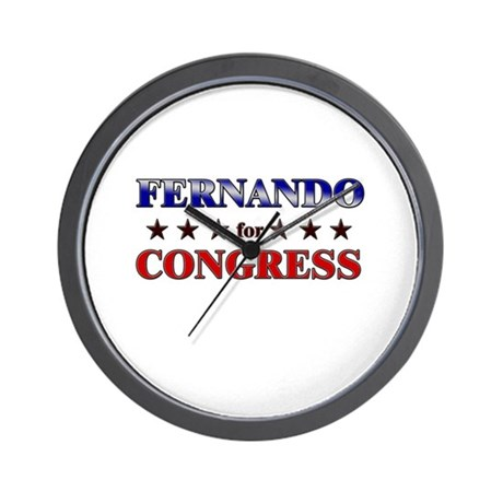 FERNANDO for congress Wall Clock