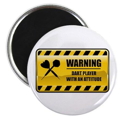 Warning Dart Player Magnet
