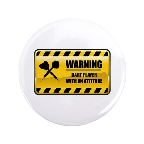 "Warning Dart Player 3.5"" Button (100 pack)"