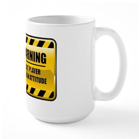 Warning Dart Player Large Mug