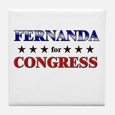 FERNANDA for congress Tile Coaster