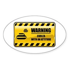 Warning Curler Oval Decal