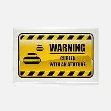 Warning Curler Rectangle Magnet
