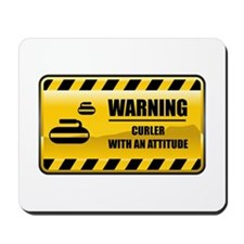 Warning Curler Mousepad