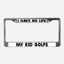 My Kid Golfs License Plate Frame