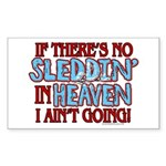 Sleddin' in Heaven Rectangle Sticker