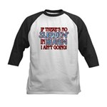 Sleddin' in Heaven Kids Baseball Jersey