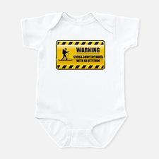 Warning Cross Country Skier Infant Bodysuit