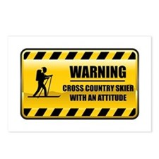 Warning Cross Country Skier Postcards (Package of