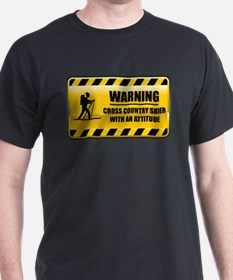 Warning Cross Country Skier T-Shirt