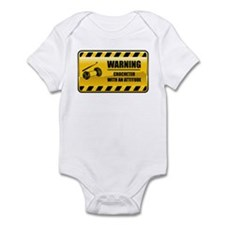 Warning Crocheter Infant Bodysuit