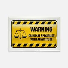 Warning Criminal Specialist Rectangle Magnet