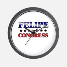 FELIPE for congress Wall Clock