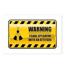 Warning Crane Operator Postcards (Package of 8)