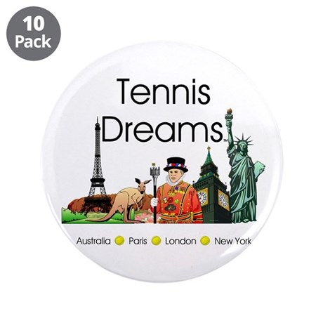 "TOP Tennis Dreams 3.5"" Button (10 pack)"