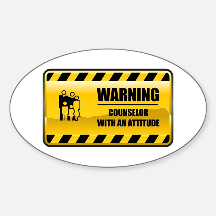Warning Counselor Oval Decal