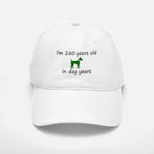 40 Dog Years Green Dog 2 Baseball Baseball Baseball Cap