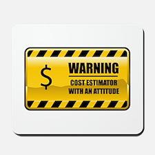 Warning Cost Estimator Mousepad