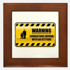 Warning Corrections Officer Framed Tile
