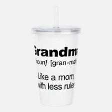 Grandmas Rule! Acrylic Double-wall Tumbler